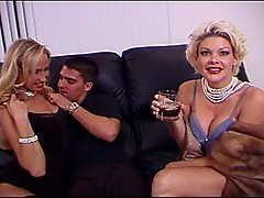 Seductive Blond Housewives in Threesomevideo