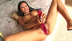 Asian lovely, Priva gets to the hard work of getting herself off with a deep dicking toy set. She loves her pink jelly dildo but for this climax inducing masterbation show it's the giant anale bead rod that she drives into her ass. Her anal pleasure has her shaking from excitement but I still say she looks ripe and ready for some real cock!video