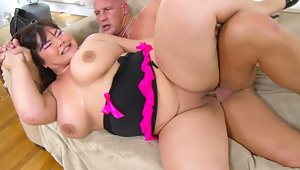 Pretty and plump asian plum Kelly Shibari is a brunette bbw with an insatiable craving for cock. Looking sizzling hot in a pink and black nighty, she knows what she needs, and she takes it. This fierce fatty has a cum feeding frenzy in this steamy one on one. Ice this cupcake when you're done with her, and put her on the rack to cool, because nothing gets her hotter then a sticky moneyshot.video