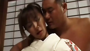 Hot asian housewife fondled hard by an almost naked fellowvideo