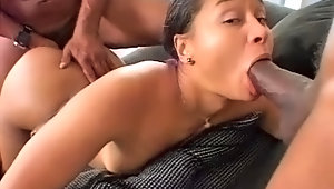 2 Black Missiles Fucking The Shit Out Of This Asian Whorevideo