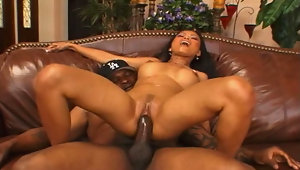 Big black guy shows this asian babe how good is a big dickvideo