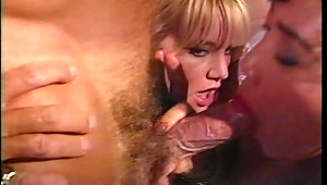 Hot vintage threesome with classic pornstars in here video