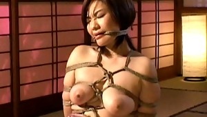 Here is a pain and humiliation movie  complete Japanes bondage experience. This girl is completely wrapped with a rope and taken advantage of while she is immobilized. See her go through some sexual abuse and rough sex.video