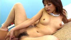 Look at the perfect tits on this beautiful Asian slut right here, they are amazing and you will see this guy making the most out of them by sucking on them like a mad man. She gets so turned on by the sucking that she ends up giving him head and getting her cunt demolished by cock!video