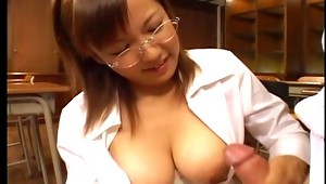 There aren't so many hornier babes out there like this Japanese office slut that we have for you in this super hot Asian xxx video. This guy goes for a job interview and the bitch gets so fucking horny that she lets the guy play with her big boobies like no tomorrow and the slut loves, she begs for his cock all over her face. This babe from Japan is a fucking machine!video