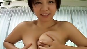 Meguru Kosaka and her prime big tits packed in of course to small bra. Whole fun starts with Meguru doing blowjob, but it turns out that she has more to offer than that. That more is the size of her buffers that are perfect to take and tease any kind of dick between them. Supreme japanese big tits job in awesome close up!video