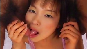 Catch Mana Iizuka in provocative three-some action. Exciting bukkake action is sure to follow when Mana Iizuka gets her hands on two cocks. Mana Iizuka follows up her wonderful blowjobs and handjobs with provocative rear entry action. Cute Mana Iizuka just can\'t get enough of the his male companions.video