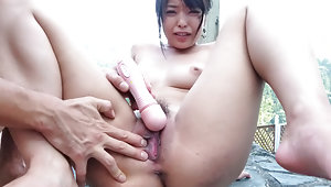 alluring Eririka Katagiri gets her pussy drilledvideo