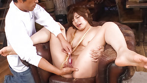 Awesome Asian woman with shaved pussy Ririsu Ayaka facialized after awesome scenevideo