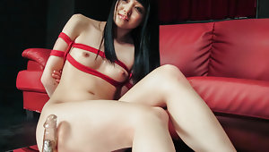 Nozomi Auichu riding a thick dildo properlyvideo